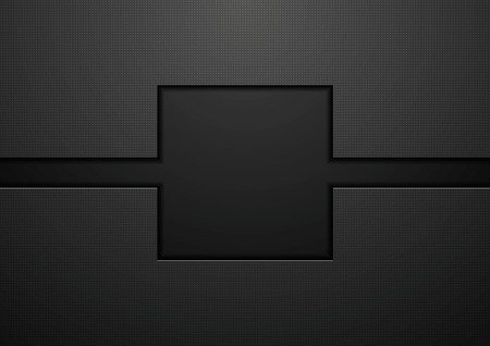 Black tech abstract concept background. Vector template design 向量圖像