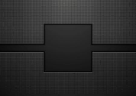 Black tech abstract concept background. Vector template design Illusztráció