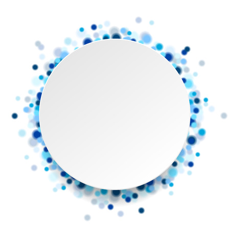 Abstract blue shiny circles elegant background. Vector illustration Ilustração Vetorial