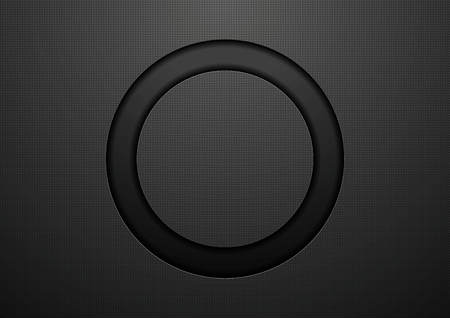 Abstract black circle background. Vector template design