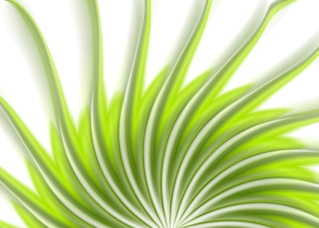 green swirl: Green swirl wavy beams abstract background. Vector swirl elegant graphic design template