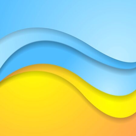 contrast: Bright abstract contrast corporate wavy background. Vector illustration Illustration