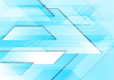 graphic background: Cyan tech geometric background. Blue turquoise technology vector graphic design