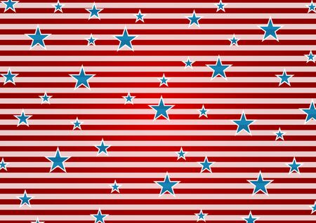 presidents day: Presidents Day or Independence Day abstract USA flag colors background. Vector illustration with stripes and stars Illustration