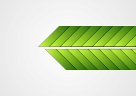 green arrows: Green arrows abstract corporate background. Vector illustration