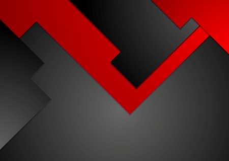 red line: Black red geometric contrast tech background. Vector illustration corporate design