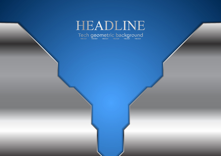 blue metallic background: Abstract blue corporate design with metallic elements. Vector background