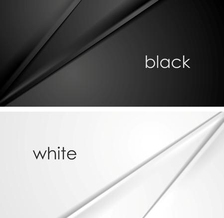 lignes de soie lisse de fond noir et blanc. conception Vector illustration