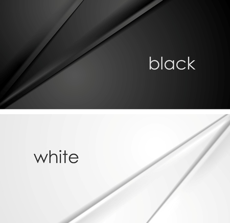 Smooth silk lines black and white backgrounds. Vector illustration design