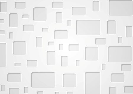 squares background: Geometric grey background with squares. Tech vector design with squares and rectangles