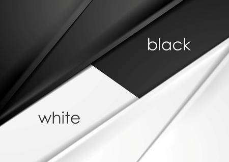 schwarz: Glatte Seide abstrakte Schwarz-Weiß Corporate Hintergrund. Vektor-Grafik-Design Illustration