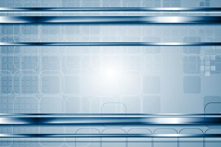 cromo: tecnología brillante metálico elegante fondo abstracto. Chrome líneas de metal y plazas. Hi-tech ilustración metálico Vectores