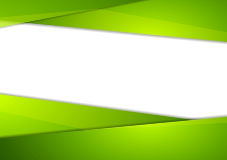 Tech corporate abstract green background. Vector corporate brochure bright design