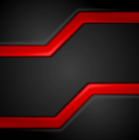 Abstract contrast black red tech background. Vector corporate graphic design Illustration