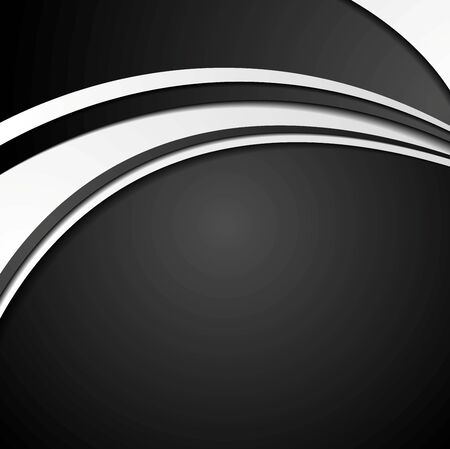 wavy background: Black and white abstract corporate wavy background. Vector graphic design Illustration