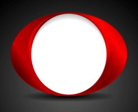 circle shape: Abstract bright circle O shape logo design. Vector background