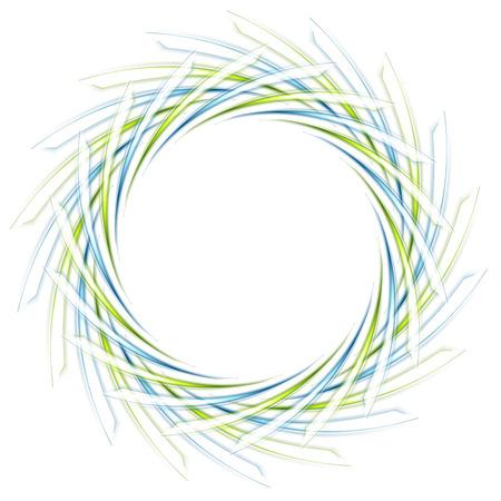 Resumen rasposa icono verde y azul en blanco. Vector de fondo de alta tecnología Ilustración de vector