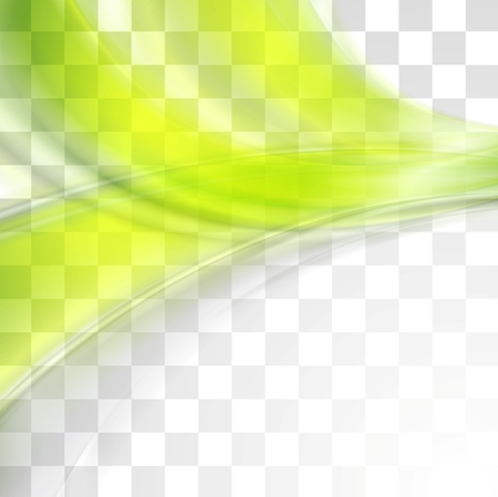 abstract green: Bright green soft abstract transparent waves.
