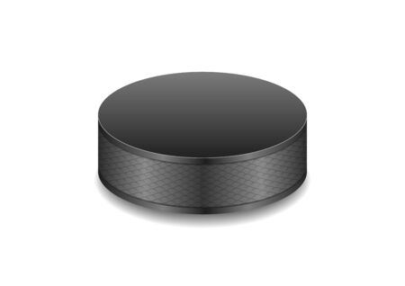 puck: Hockey black puck abstract vector background Illustration