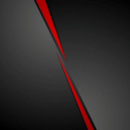 Abstract dark red black corporate tech background. Vector graphic design