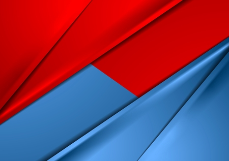 Abstract red and blue smooth contrast background. Vector graphic design Illustration