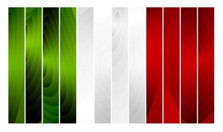 planking: Wooden abstract vector Italy flag. Italian Republic Holiday Illustration