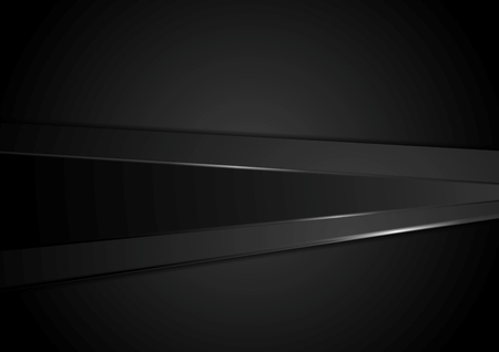 black background abstract: Abstract black stripes corporate background. Vector tech dark graphic design