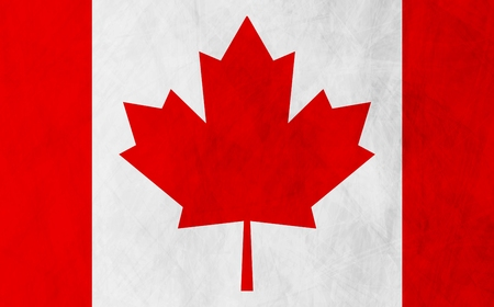 canadian flag: Canadian grunge flag vector design background