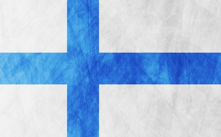 finnish: Finnish grunge flag vector design background Illustration