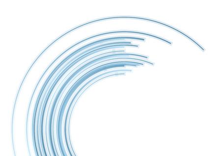 Blue tech arc abstract background. Vector design