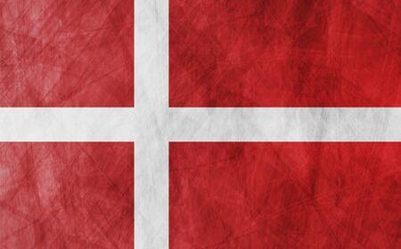 danish flag: Danish grunge flag vector design background Illustration