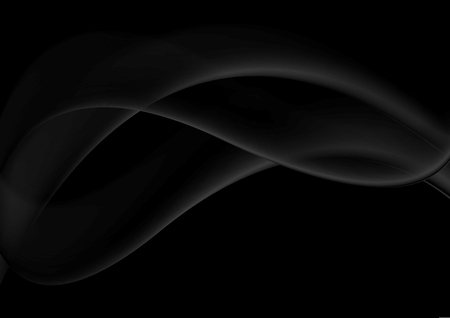 Abstract smooth black wavy abstraction vector background
