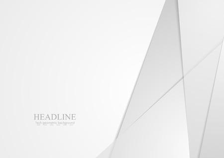 Lichtgrijze abstracte materiaal zakelijke achtergrond. Vector grafisch ontwerp