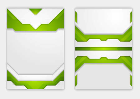 web design background: Abstract green grey geometric tech design. Vector background for web use, print brochure template Illustration