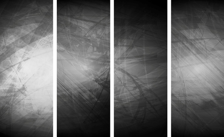 textural: Grey grunge textural banners. Abstract vector background, wall texture surface
