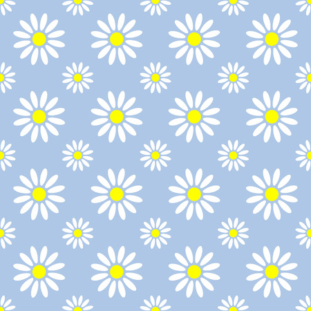 graphic pattern: Abstract summer camomile seamless pattern. Vector flowers graphic pattern design