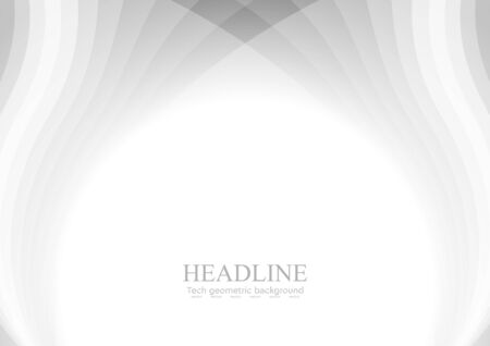 grey: Abstract grey white wavy pattern background. Vector illustration design template Illustration