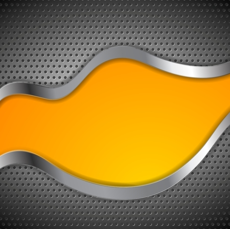 perforated: Abstract perforated metallic bright corporate design. Vector wavy background
