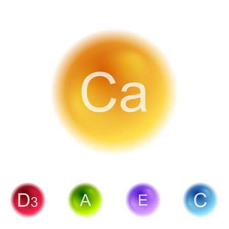 ascorbic: Vitamins colorful balls abstract background. Vector health design Illustration