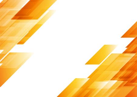 Hi-tech oranžové tvary abstraktní pozadí. Vektorová grafika geometrické tvary