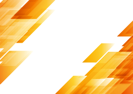 naranja: naranja de alta tecnología forma el fondo abstracto. Vector el diseño geométrico gráfico Vectores