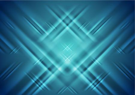 iridescent: Tech blue diagonal stripes abstract background. Vector design illustration Illustration