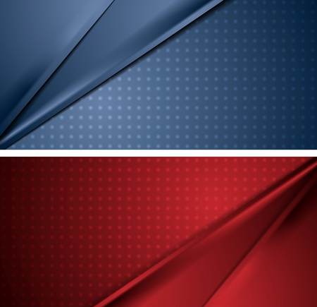 red abstract backgrounds: Abstract blue and red soft lines banners. Vector corporate material design backgrounds