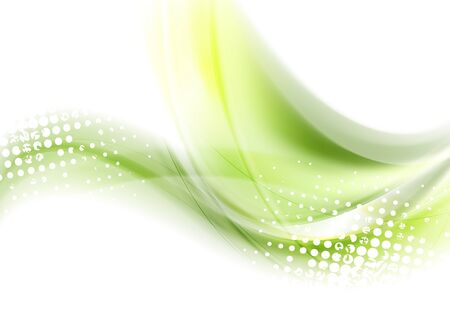 shiny background: Abstract green waves shiny background. Vector graphic design