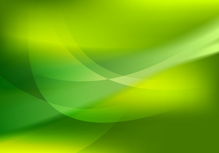 Abstract green soft waves shiny background. Vector graphic design