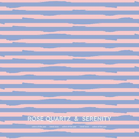 Abstract rose quartz and serenity striped background. Vector design Illustration