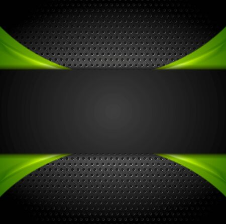 green banner: Abstract dark corporate green black background. Vector illustration