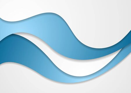 wavy background: Abstract blue grey wavy corporate background. Vector graphic brochure design