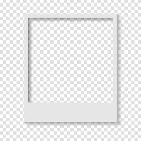 Blank transparent paper Polaroid photo frame. Vector design Illustration