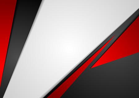 Bedrijfs concept rood zwart grijs contrast achtergrond. Vector abstract grafisch ontwerp Stock Illustratie